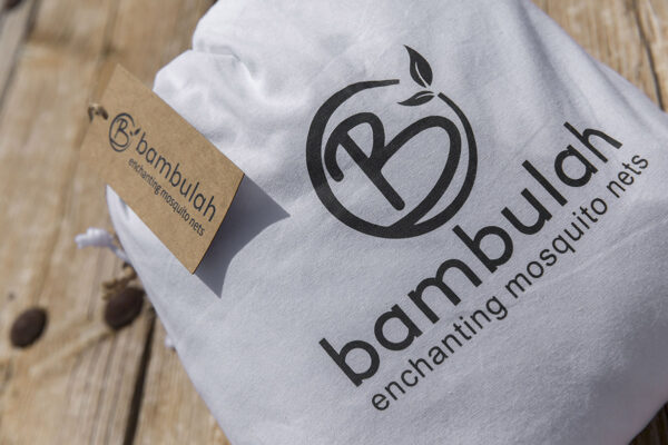 Bambulah Rectangular Mosquito Net Cotton Bag Kasih