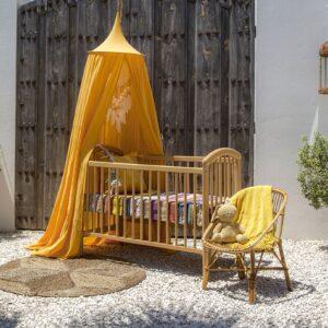 Klamboe baby okergeel 'De Raja – Ochre Yellow'