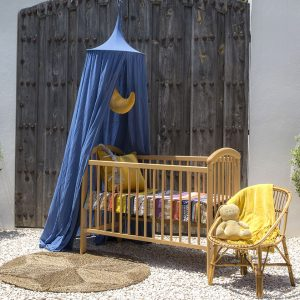 Baby sleeping bed with mosquito net - The Raja Midnight Blue