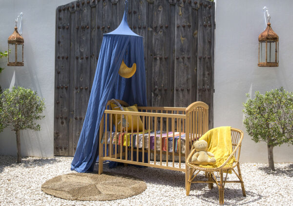 Klamboe voor baby ledikant 'Raja Midnight Blue'