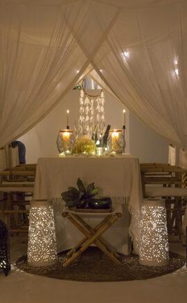 Bambulah mosquito net room